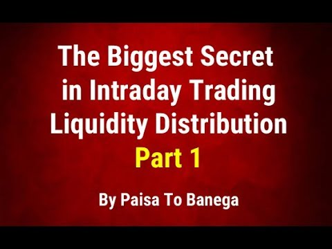 The Biggest Secret in Intraday Trading  - Liquidity Distribution - Part 1 - By Paisa To Banega