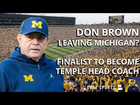 Don Brown  Head Coach At Temple? Michigan's Defensive Coordinator Interviewed & Is Finalist