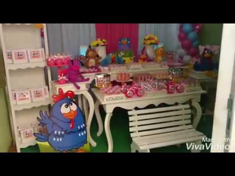 Decoração Galinha Pintadinha Rosa Manuela 1 Ano Youtube