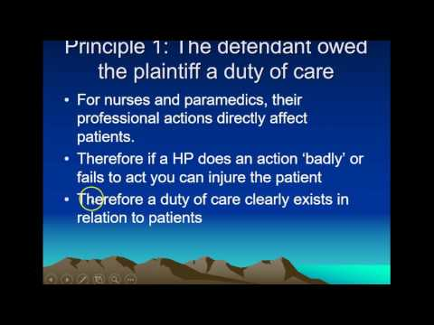 Duty of Care & Negligence