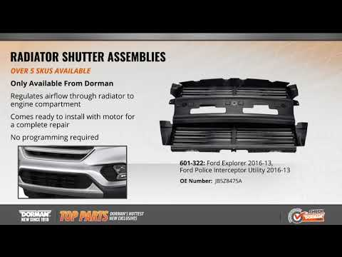 Radiator Shutter Assembly | 601-322 | Active Grille Shutters