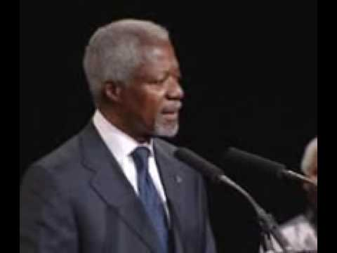 Kofi Annan speaking at The Elders' founding event