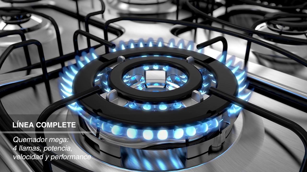 Cocinas whirlpool complete y gourmand youtube for Cocinas mixtas a gas y electricas