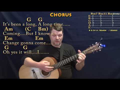 A Change Is Gonna Come Sam Cooke Strum Guitar Cover Lesson In G