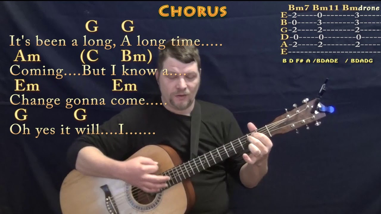 A Change Is Gonna Come (Sam Cooke) Strum Guitar Cover ...