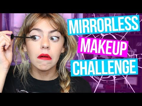 BETCHA I CAN DO IT BETTER THAN YOU! - No Mirror Makeup Challenge // Broke and Bougie | HISSYFIT
