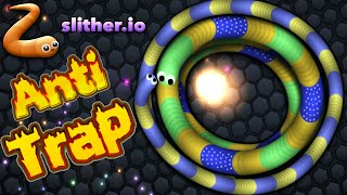 Slitherio Anti Trap Epic Trick Trapping Large Snakes Slitherio Best Moments Vloggest