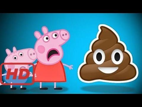 Pig George e Peppa Pig com dor de barriga na Piscina  Chocolate M&M's  faz cocô no chão em Po  #FUB
