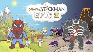 - DRAW A STICKMAN EPIC 2 Gameplay Marvel Super Heroes Tiny Spiderman vs Dark Venom Crazy Ending