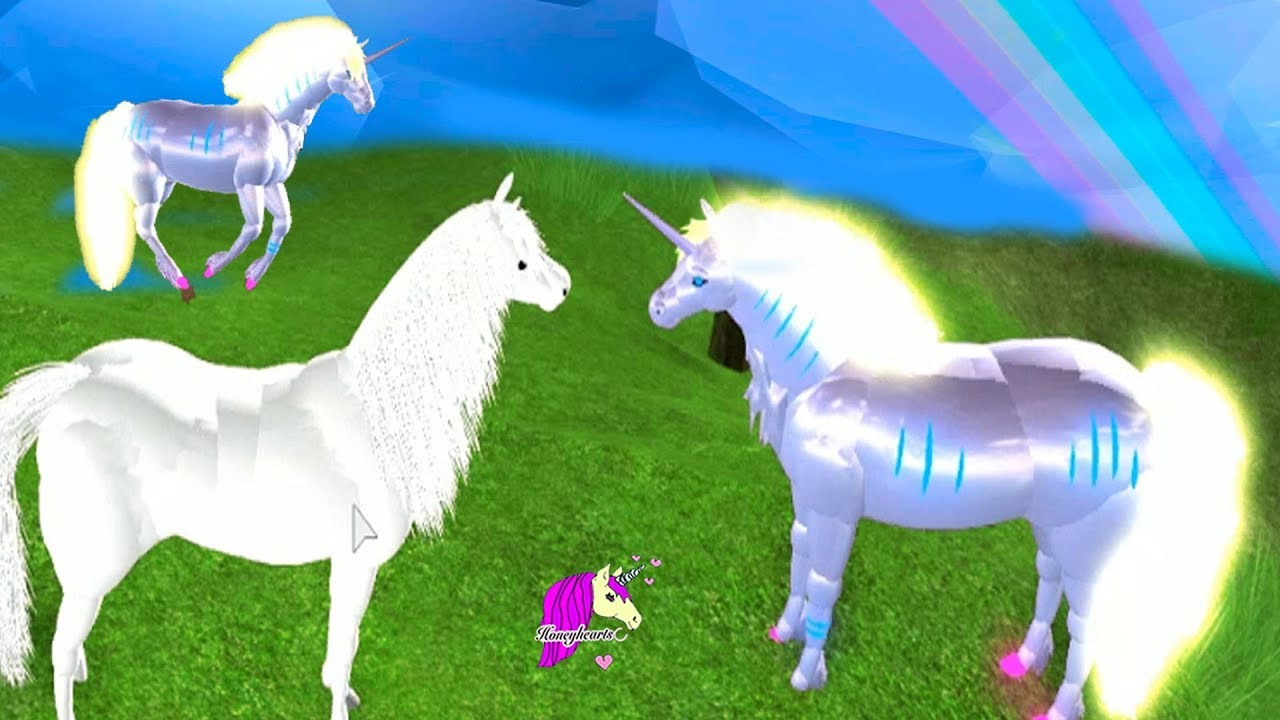 Roblox Horse World Glowing Unicorns Roblox Let S Play Horse World Video Game Youtube