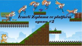 Scratch ile ivmeli zıplama ve bölüm ilerlemeli platform oyunu 2. Bölüm