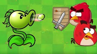 Angry Birds vs Pea - ALL BIRDS GOT SHOT BY ONE PEASHOOTER!!