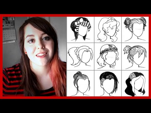 hairstyle drawings in under