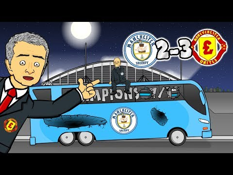 😭2-3! NO TITLE PARTY!😭 Man City vs Man Utd (Parody Goals Highlights 2017/2018)