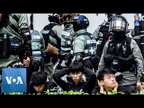 hong-kong-riot-police-detain-protesters-at-protest-against-chinese-traders