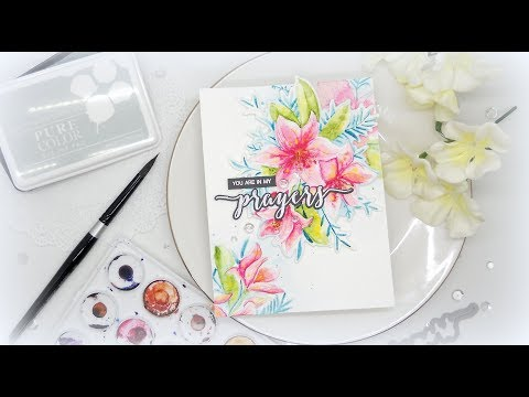 Die Cut Watercolor Lilies: Wplus9 March 2018 Release