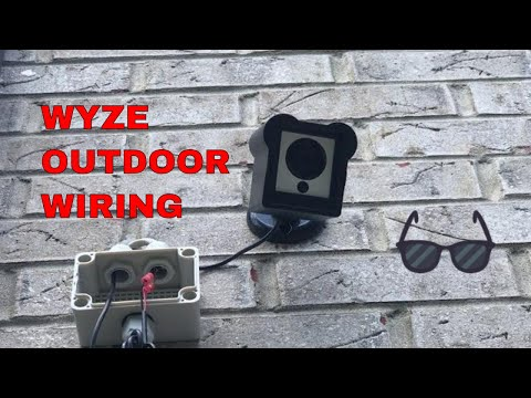 How to wire a WYZE camera outdoors and also waterproof outdoor housing with indoor AC/DC 12v USB