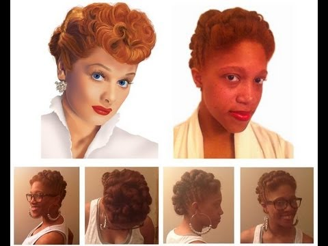 lucy lucille ball inspired hair