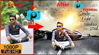 Change Background + HDR Effect in PicsArt online Tutorial