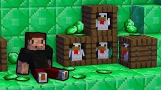 EMERALDOWY WŁADCA KURCZAKÓW! - Minecraft Caveblock 2.0