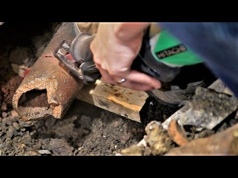 cutting-clay-pipes-with-a-sawzall