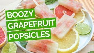 boozy grapefruit basil vodka popsicle recipe