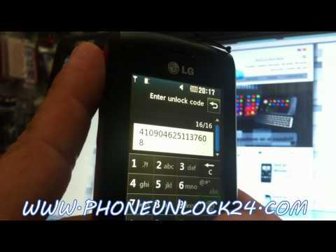 Liberar LG GW520, Desbloquear LG GW520