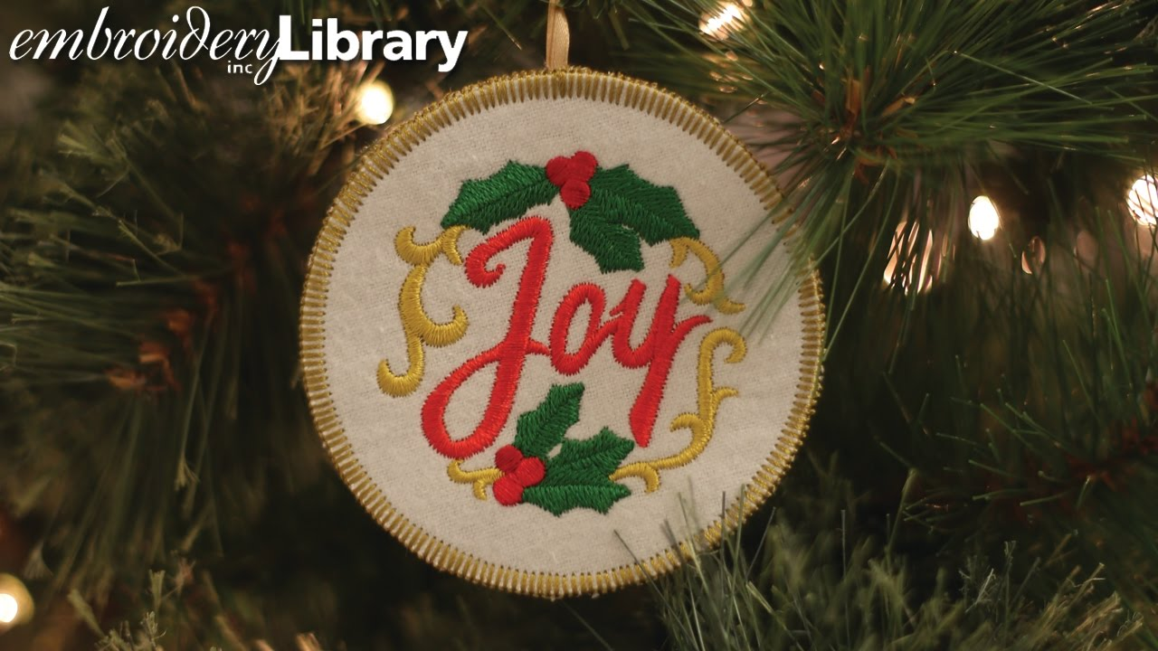 embroidered christmas ornaments in the hoop - Embroidered Christmas Ornaments