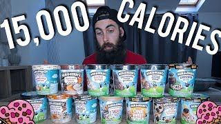 The Ben & Jerry's 13 Pint Challenge (Probably The Most Ben & Jerry's Ever Eaten) | BeardMeatsFood