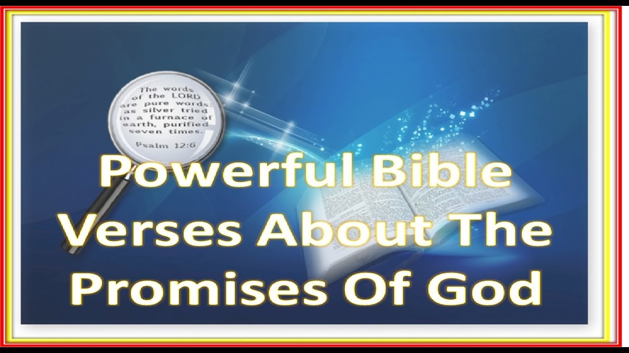 powerful bible verses about the promises of god word of god