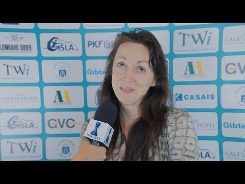Round 4 Gibraltar Chess post-game interview with Elisabeth Pähtz
