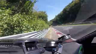 Nordschleife Unfall Crash BMW 328i Touristenfahrten 05.08.2018 6th Lap Crash at Kallenhard