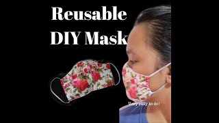 dIY FaceMask with FREE PATTERN | Reusable | Easy Sewing