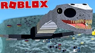 "Dinosaur Simulator-Aquatic monster, Sea Hunter! ""Fresnosaurus"" 
