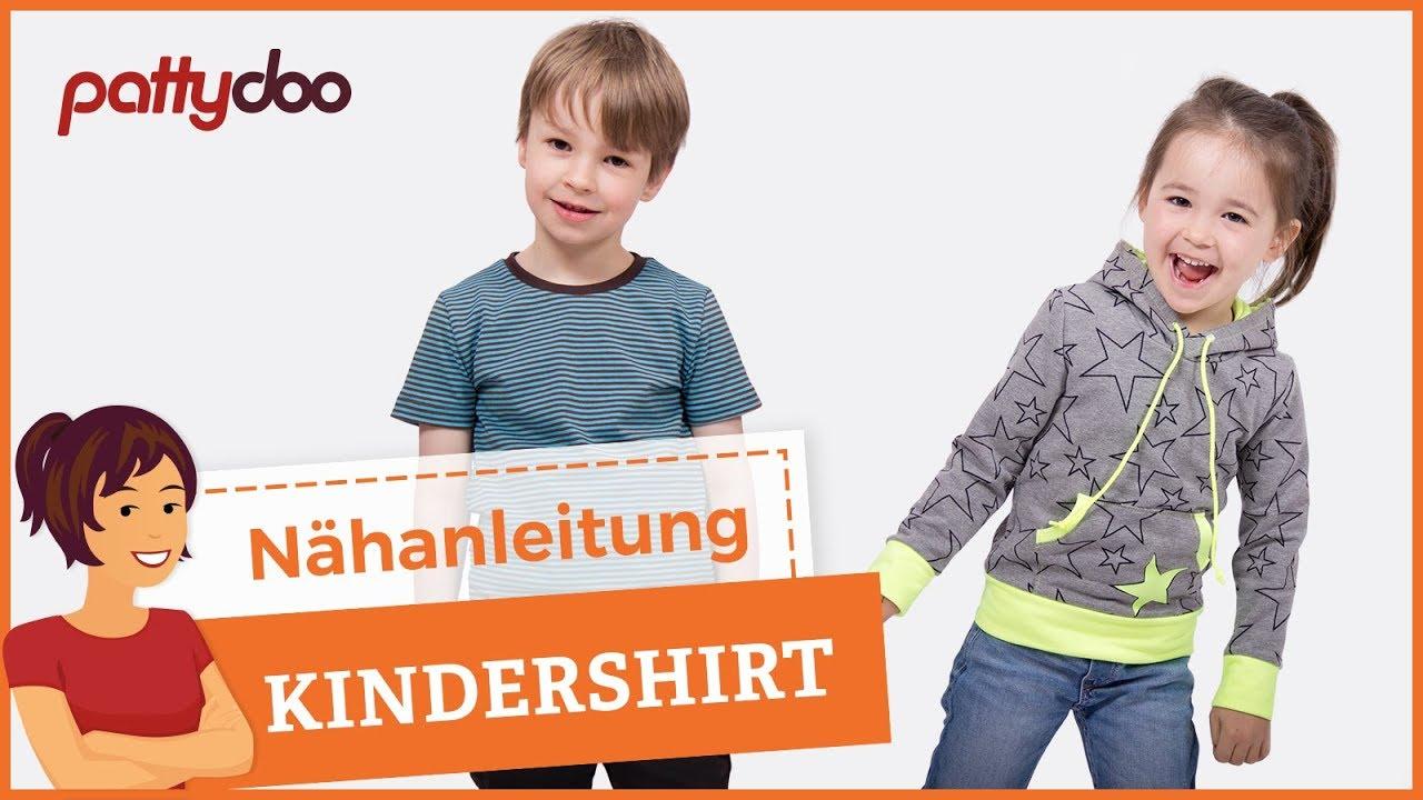 the best attitude b3497 468d8 Kindersachen nähen - Shirt/Pullover mit Kapuze und Bündchen