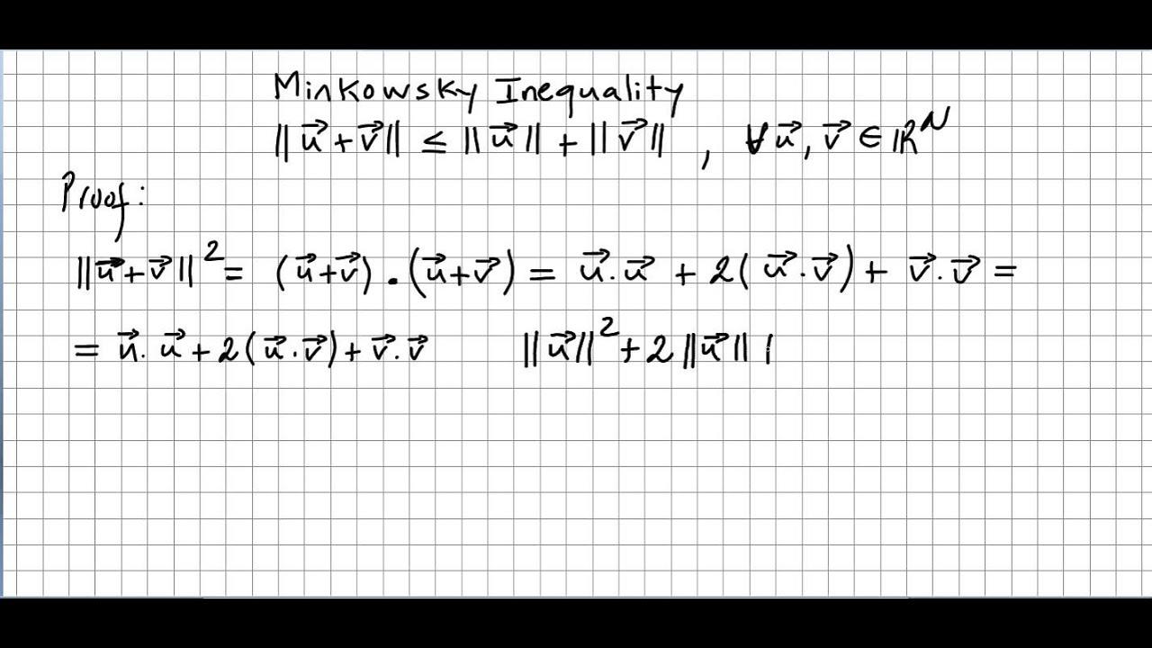 Linear Algebra 31, Minkowsky Inequality, Triangular Inequality ...