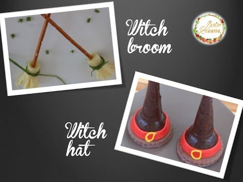Recettes Halloween - Gran Mer Kal - Balai et chapeau de sorcière - Witch hat and witch broom