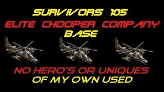 War Commander - Survivors (105) Chopper Company Base Without Any Hero's Or Unique's.