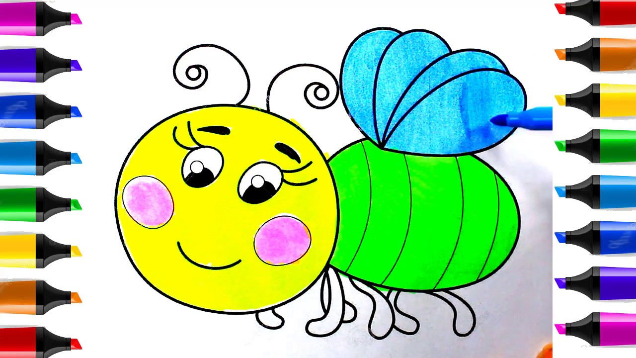 How To Draw Bee For Kids How To Draw A Bee Easy Step By Step Youtube