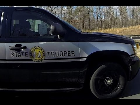 North Carolina State Highway Patrol Trooper Impaired / Distracted Speeding Cops