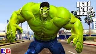 INCREDIBLE HULK in GTA 5 Game cartoon about a GREEN MONSTER from Cool GAMES