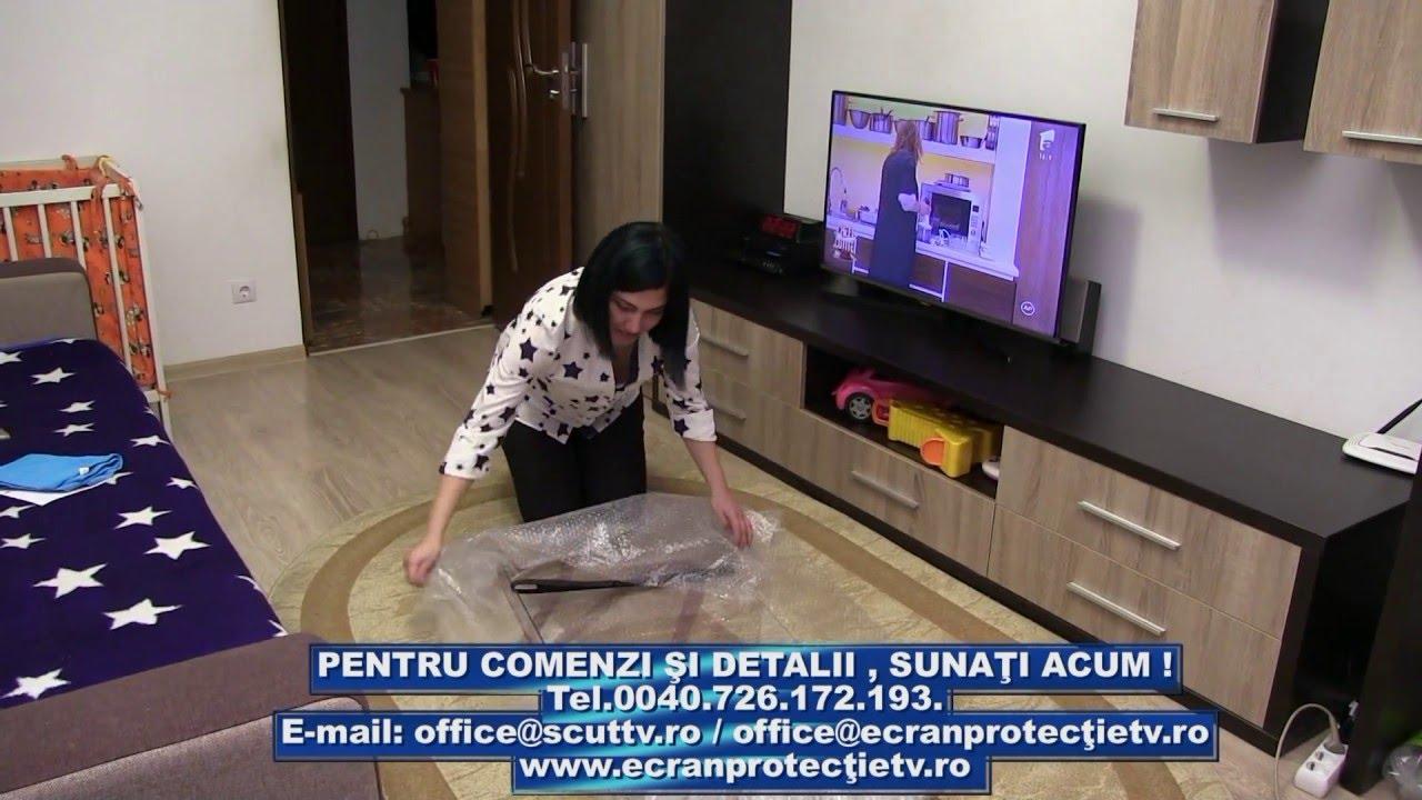 Instalare ecran de protectie TV