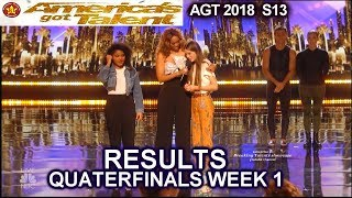 RESULTS QUARTERFINALS 1 Courtney Hadwin Amanda Mena  America's Got Talent 2018 AGT