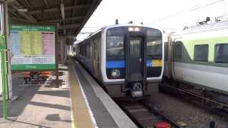 JR小海線キハE200形小諸駅発車/Hybrid Train Kiha E200 series/2013.08.13