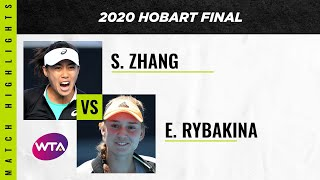 Zhang Shuai vs. Elena Rybakina | 2020 Hobart Final | WTA Highlights