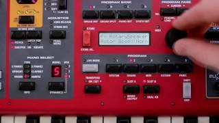Ajustando el sonido del órgano B3 en los teclados Nord