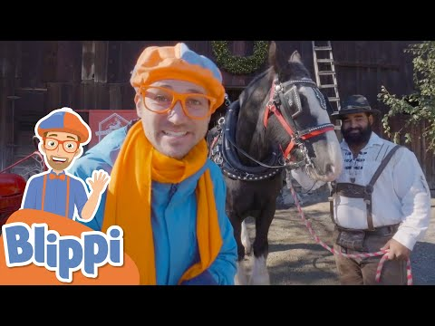 Blippi Visits The Horse And Reindeer Farm | Animals For Kids