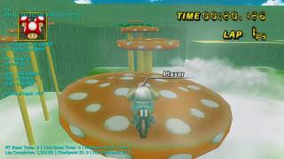 [MKW TAS] Mushroom Peaks - 1:10.762 (Lap 1)