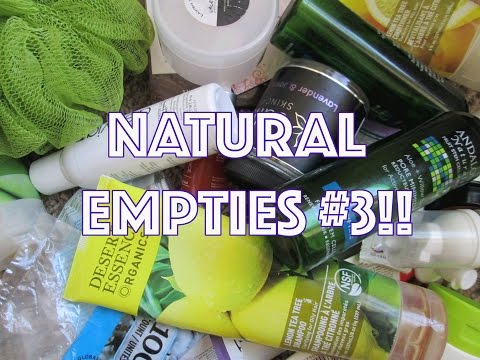 Natural Empties #3 - Vegan, Cruelty Free Products!