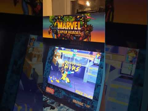 X-Men Children of the Atom Arcade1up gameplay from Malckie Rob Gaming